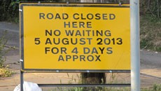 Rose Bank closure – 5th August 2013