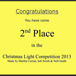 A Christmas Light Competition!