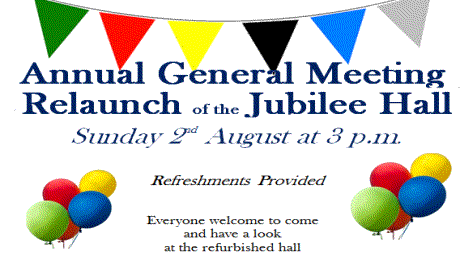Jubilee Hall Re-launch – 2nd Aug 2015
