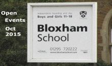 Bloxham School Open Events – 2nd & 3rd Oct 2015