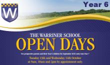 Warriner Yr 6 Open Days – 13 & 14th Oct 2015