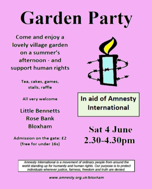 Amnesty Garden Party – 4th June 2016