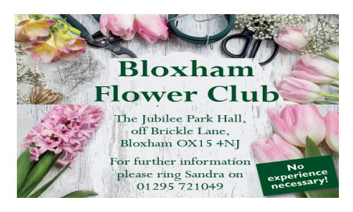 Bloxham Flower Club – April 2016