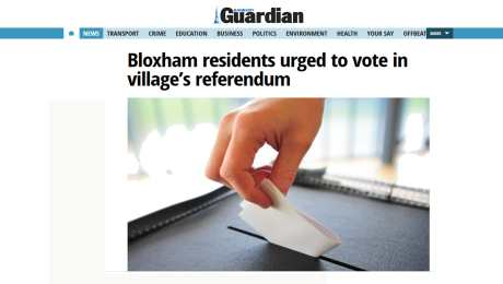Bloxham Residents urged to vote on 3rd