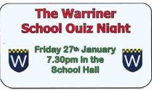 Warriner Quiz Night – 27th Jan 2017