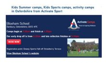 Sports Activities for 5-16  – 2017