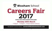 Bloxham School Careers Fair – 20th Mar 2017