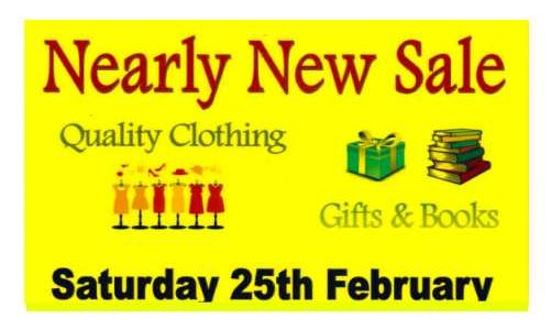 Nearly New Sale – 25th Feb 2017