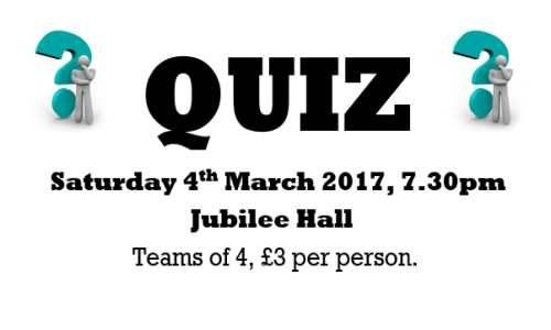W.I. Quiz – 4th March 2017