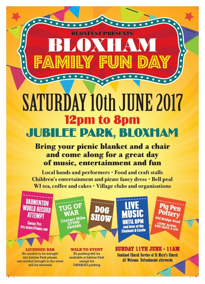 Bloxham Fun Day -10th June 2017