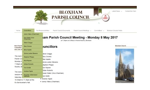 Bloxham Parish Councillors – May 2017