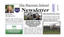 Warriner Newsletter – April 2017
