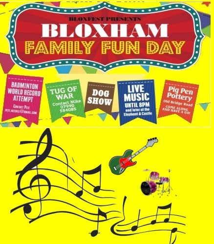 Don't forget Family Fun Day – 10th June 2017