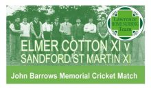 Charity Cricket Match – 3rd Sept 2017