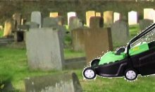 Grass cutting in St Mary's Churchyard – July 2017