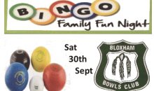 Bowls Club Bingo Eve – 30th Sept 2017