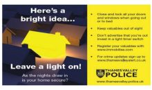 Avoid being burgled – Oct 2017