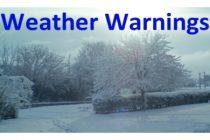 Weather Warning – 11th Dec 2017