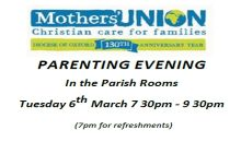 Parenting Evening – 6th March 2018