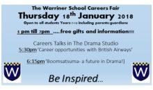 Warriner Careers Fair – 18th Jan 2018