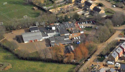 Aerial view – Bloxham Primary – Feb 2018