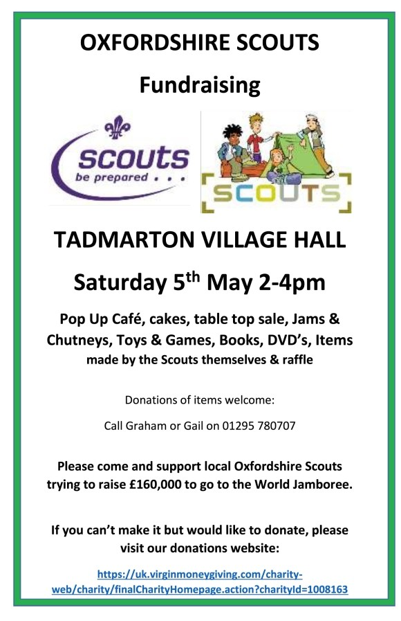Scout Fundraiser – 5th May 2018