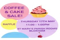Thursday Club  Coffee & Cake Sale – 17th May 2018