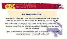Scouting Invite – 26th April 2018