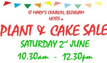 Plant & Cake Sale – 2nd June 2018