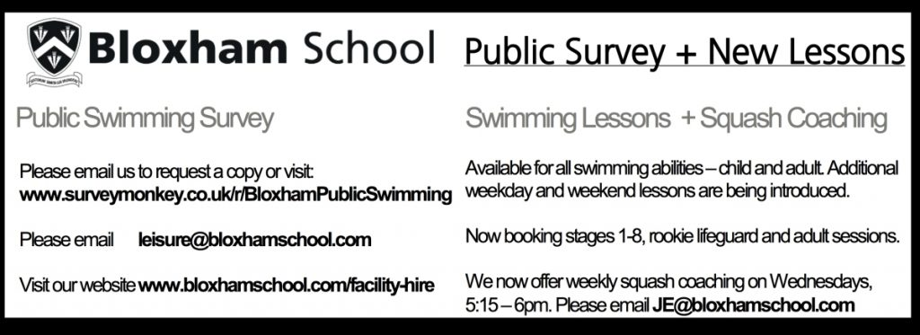 Bloxham School Swimming Survey – July 2018
