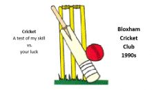 Calling old cricketers! – 13-15th July 2018