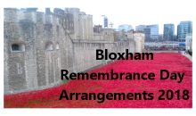 Remembrance Day Services – 11th Nov 2018
