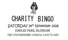 Animal Charity Bingo – 24th Nov 2018