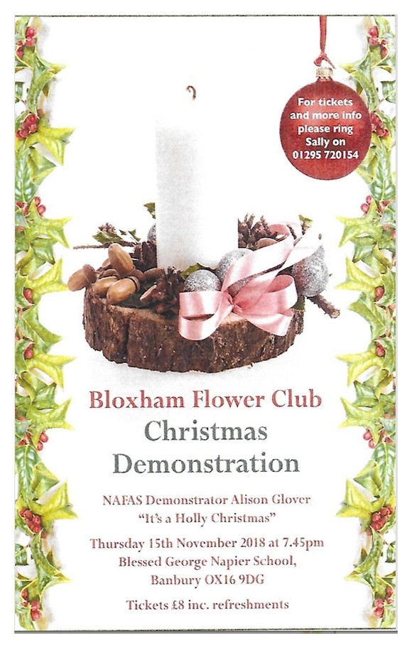 Flower Club Xmas Demo – 15th Nov 2018