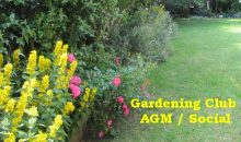 Gardening Club AGM / Social 26th Nov 2018