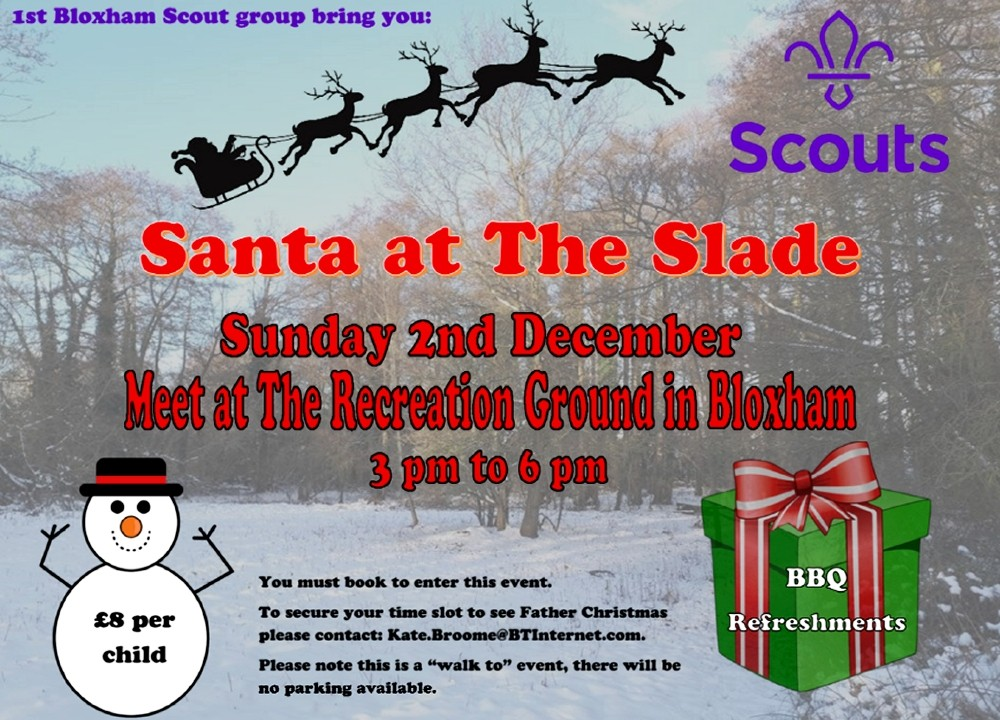 Santa at the Slade – 2nd Dec 2018
