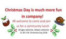 Christmas Community Lunch – 25th Dec 2018
